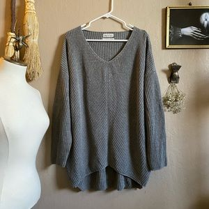 Urban outfitters grey tunic oversized sweater s